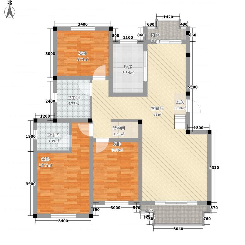 天一仁和郡128.00㎡34-37号楼D2户型3室2厅2卫1厨