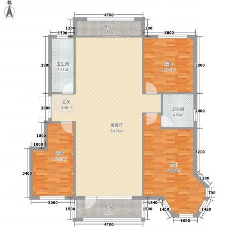 南郡天下3室1厅2卫0厨147.00㎡户型图