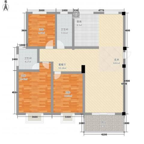 伯爵山庄3室1厅2卫0厨125.00㎡户型图