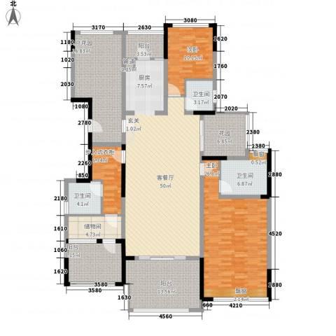 万科金域华庭2室1厅3卫0厨177.00㎡户型图