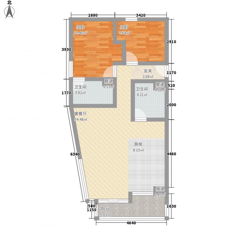 三空间112.75㎡户型2室2厅2卫1厨