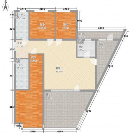 首创・龙湾3室1厅2卫1厨191.00㎡户型图