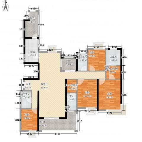 清远奥园4室1厅4卫1厨196.00㎡户型图