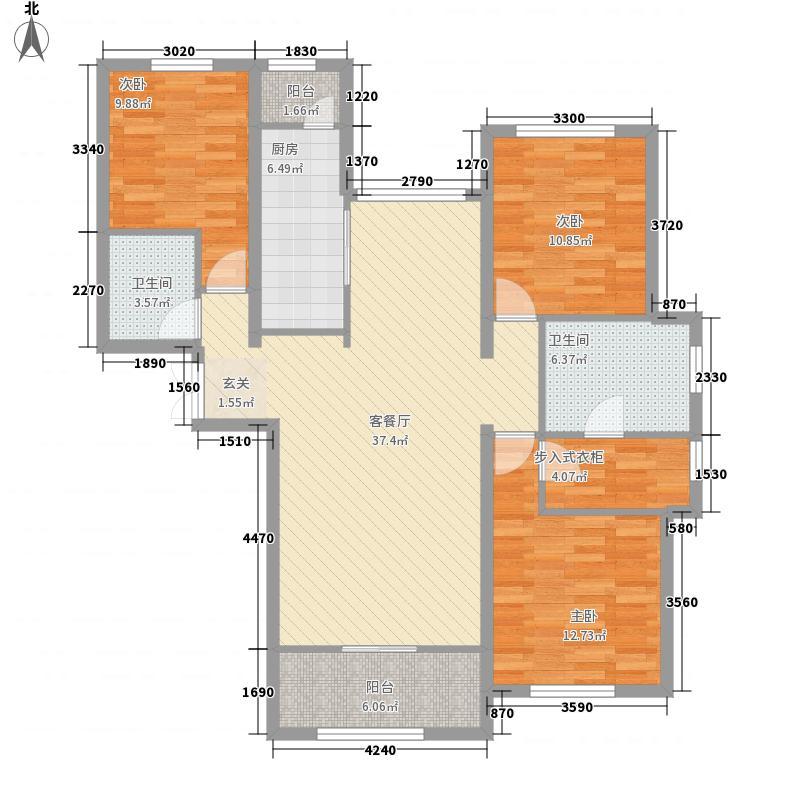 凌云金湖家园户型3室2厅