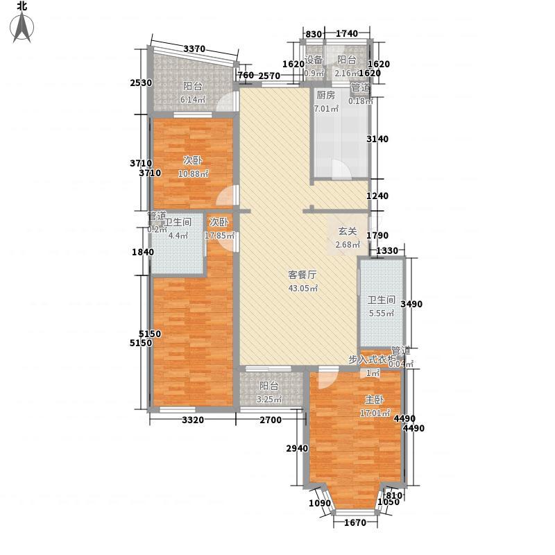 山水LAVIEF户型3室2厅2卫1厨