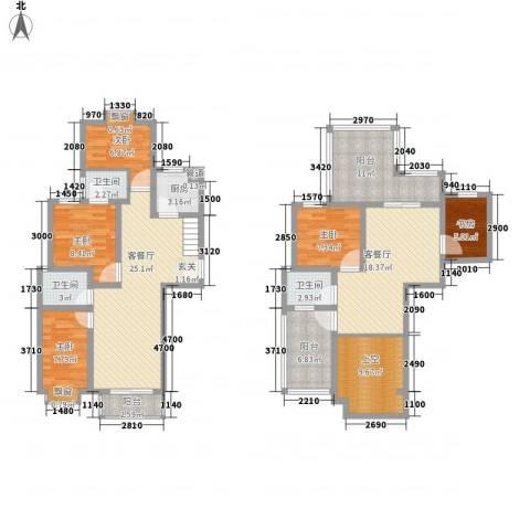 泰和家园5室2厅3卫1厨177.00㎡户型图
