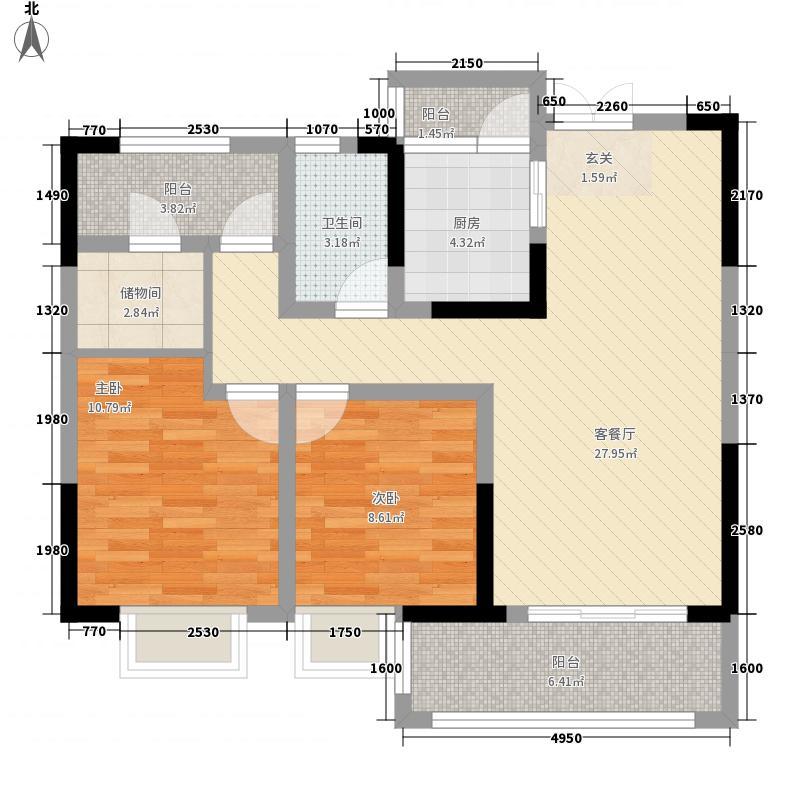 雍河湾83212.82㎡G户型3室2厅1卫1厨