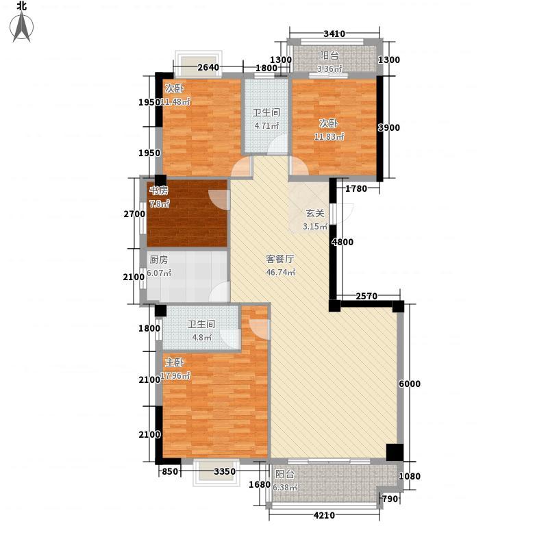 恒润御景12157.75㎡A12号3-16层户型3室1厅2卫