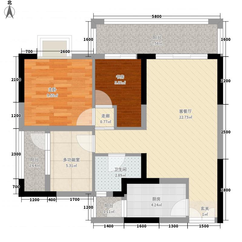 雍河湾132183.16㎡H户型3室2厅1卫1厨