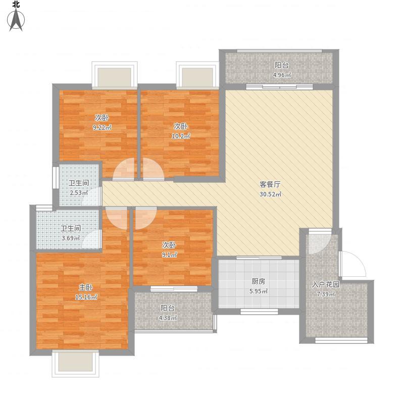 新城国际D1户型四室二厅