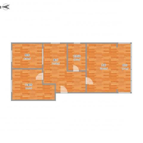 艮园2室1厅1卫1厨95.00㎡户型图