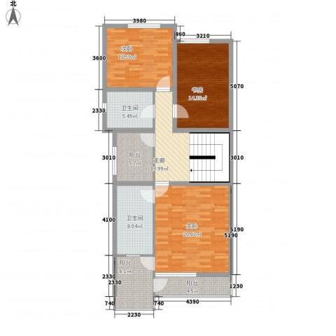 中环11区3室0厅2卫0厨130.00㎡户型图