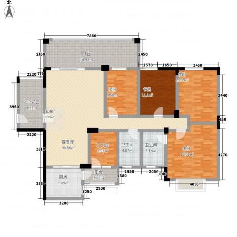 金汇湖景花园4室1厅2卫1厨152.00㎡户型图