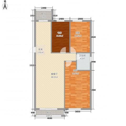 丰和日丽3室1厅1卫0厨113.00㎡户型图