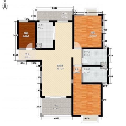 天润碧海湾3室1厅2卫1厨156.00㎡户型图
