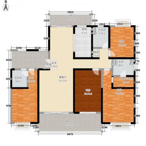 天润碧海湾4室1厅3卫1厨235.00㎡户型图
