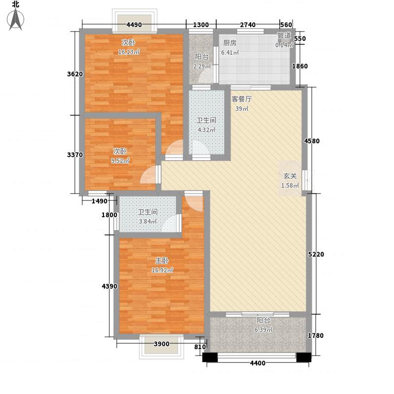 浩鑫凤岭庄园13.00㎡13栋A户型3室2厅2卫