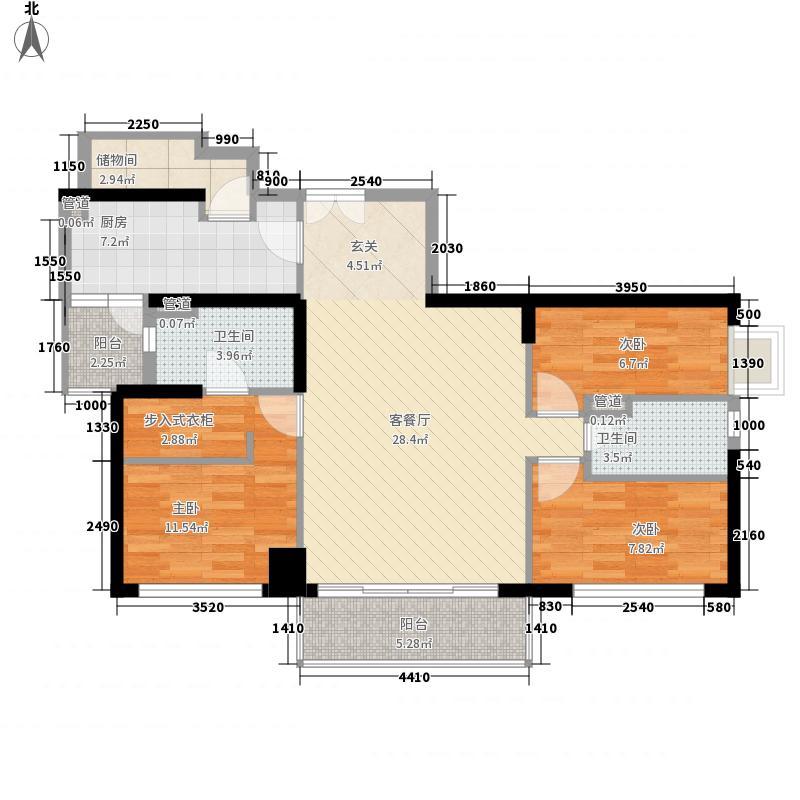凯远大厦宿舍115.00㎡户型3室2厅1卫1厨
