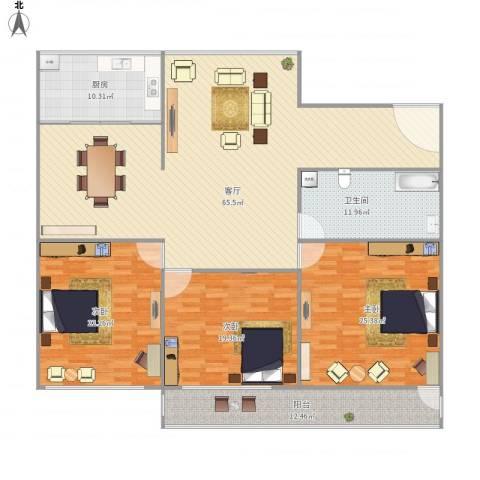 三庆燕柳园3室1厅1卫1厨221.00㎡户型图