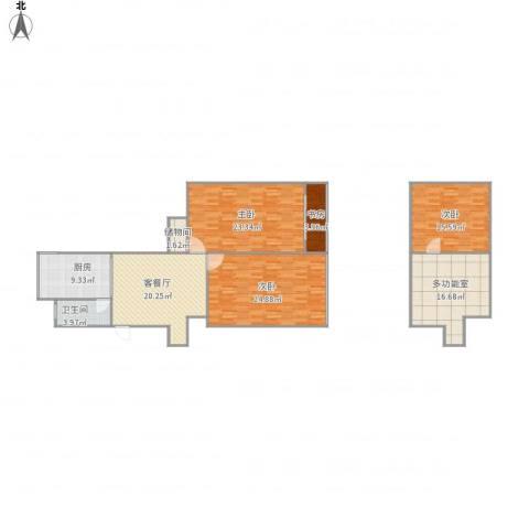胜利新村4室1厅1卫1厨160.00㎡户型图