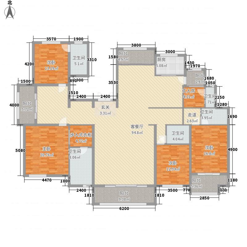 荣盛・香堤荣府284.40㎡7A户型5室3厅5卫1厨
