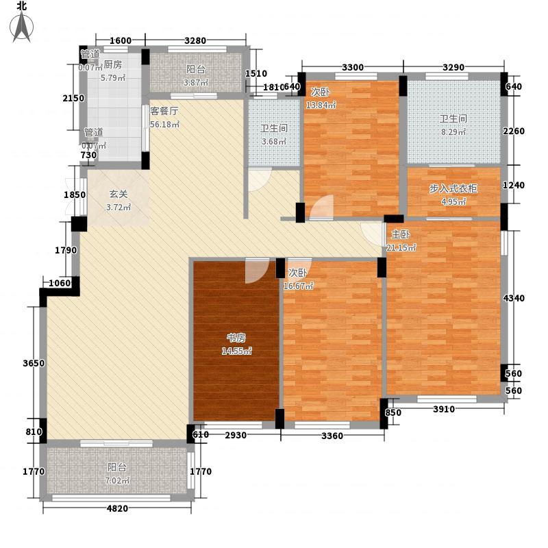 �景雅居175.00㎡C8户型4室2厅2卫1厨