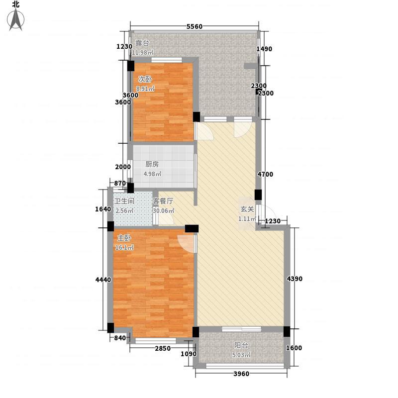 �景雅居83.00㎡B-5户型2室2厅1卫1厨