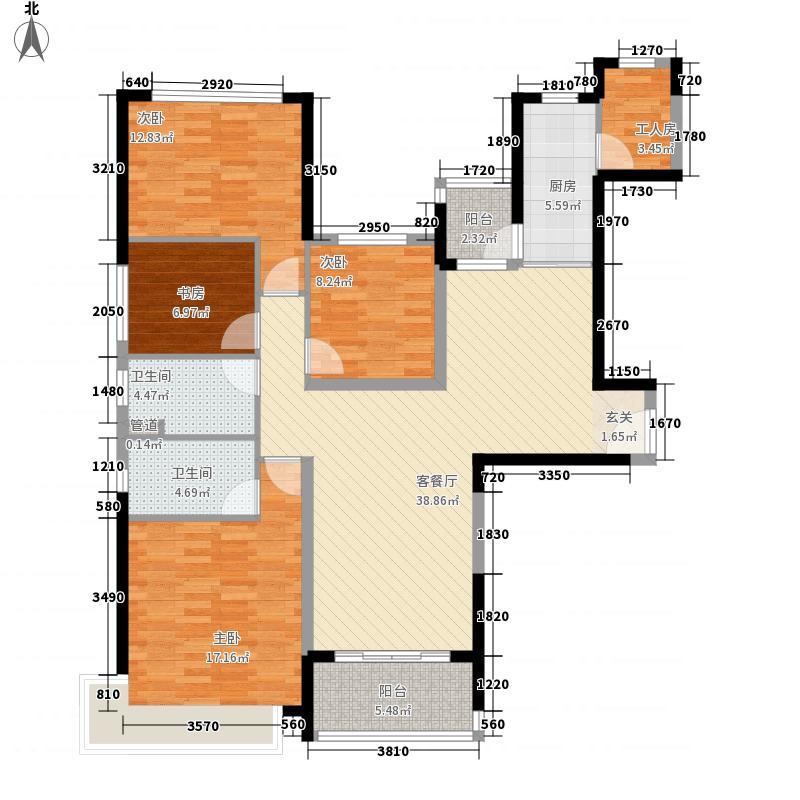 恒大绿洲156.66㎡恒大二期南山豪庭C户型4室2厅2卫1厨