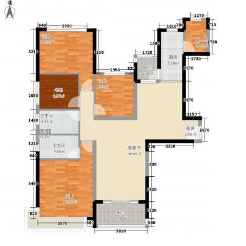 恒大绿洲4室1厅2卫1厨157.00㎡户型图