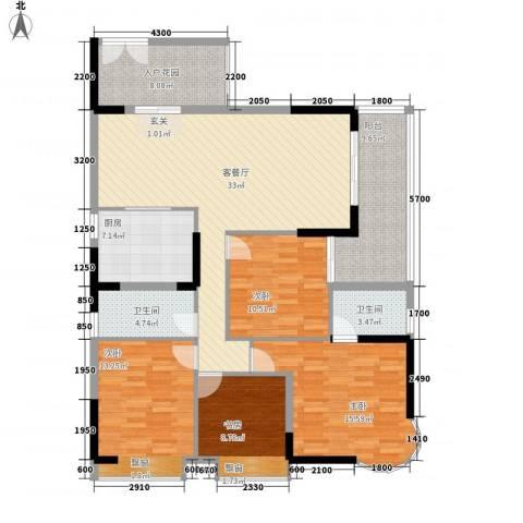 波海蓝湾三期4室1厅2卫1厨161.00㎡户型图
