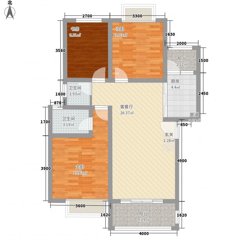 联达山与城3.00㎡N户型3室2厅2卫1厨