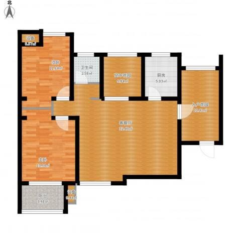 融侨天骏2室1厅1卫1厨125.00㎡户型图