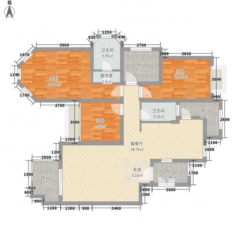 广建西城122.00㎡122户型3室2厅2卫1厨