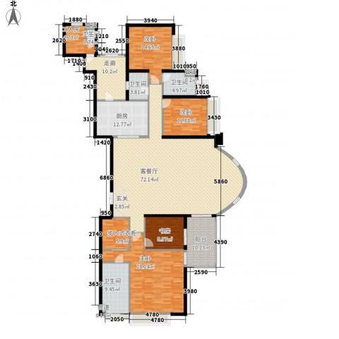 中海观园国际4室1厅4卫1厨275.00㎡户型图