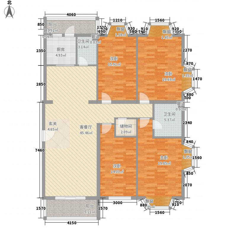 汇金・世界城168.00㎡CS户型4室2厅2卫1厨