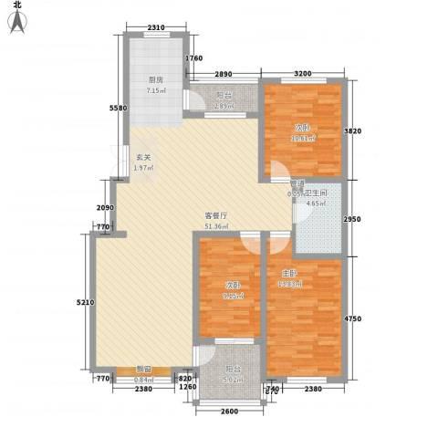 吉顺康城3室1厅1卫0厨138.00㎡户型图