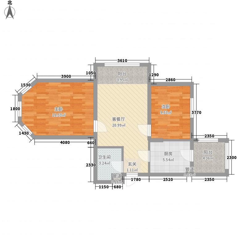 龙跃・金水湾7#户型2室1厅1卫1厨
