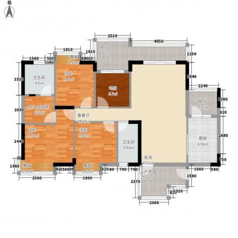 长裕棕榈园4室1厅2卫1厨146.00㎡户型图