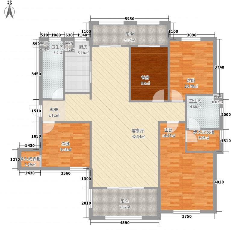 龙湖滟澜山住宅171.00㎡太湖小别阅野湖D1户型3室2厅1卫1厨