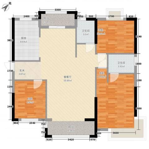 紫宸澜山3室1厅2卫0厨129.00㎡户型图