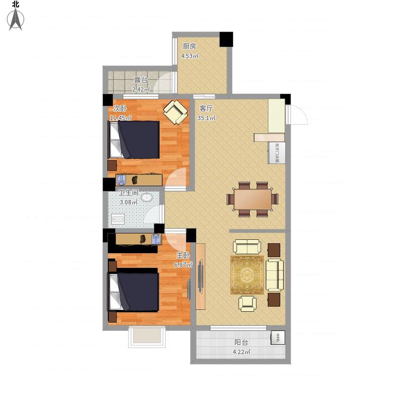 温馨小户型两室一厅