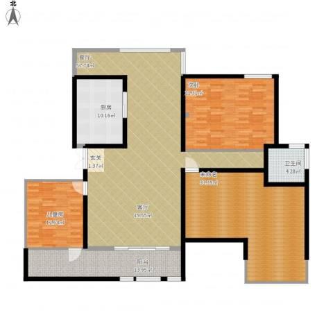 杏坛中心城2室1厅1卫1厨213.00㎡户型图