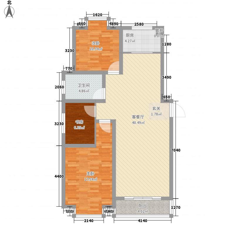 晶石科技创业中心125.00㎡户型3室2厅1卫