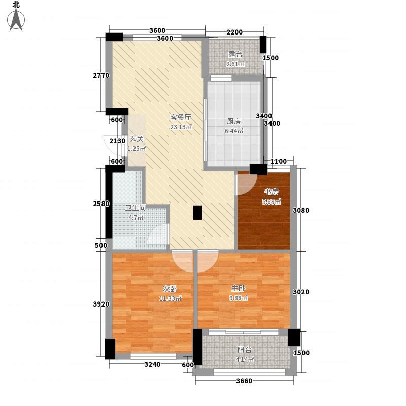 元都新苑3#3单元01室F1户型