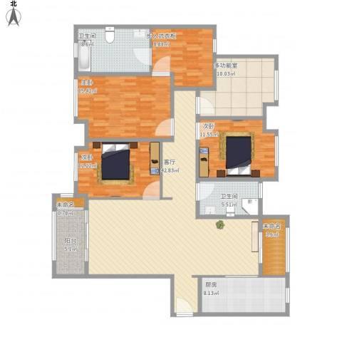 华润中央公园168㎡3室1厅2卫1厨186.00㎡户型图