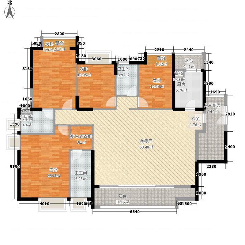 峻廷湾187.10㎡03栋偶数层01户型4室2厅3卫1厨