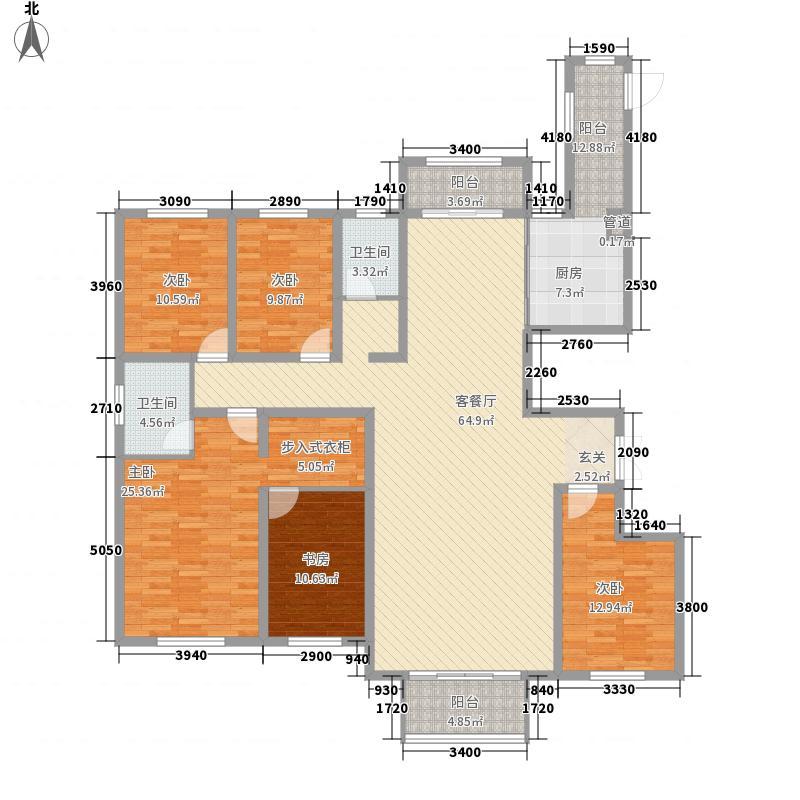 建业壹号城邦232.24㎡A3户型4室2厅2卫1厨