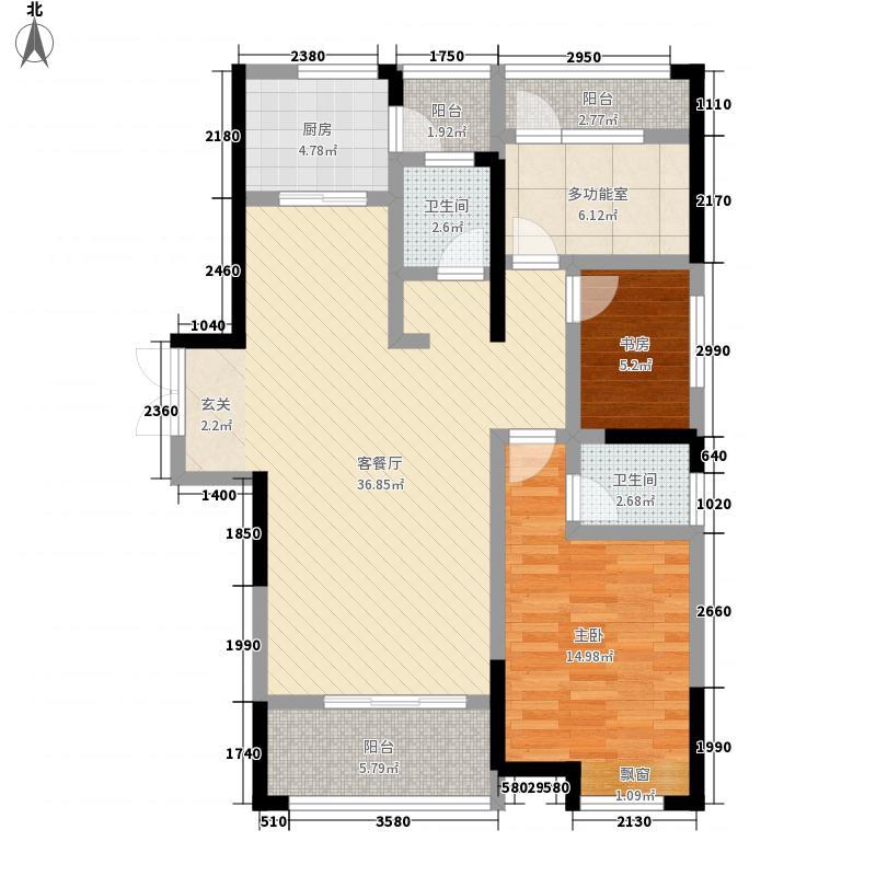 奕铭・阳光城123.30㎡3C-1户型3室2厅2卫1厨