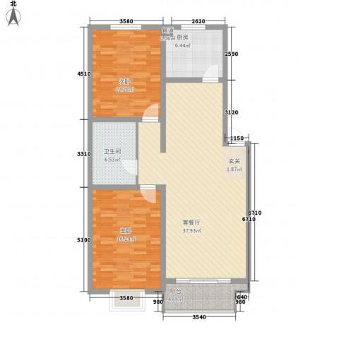 天娇园2室1厅1卫1厨111.00㎡户型图