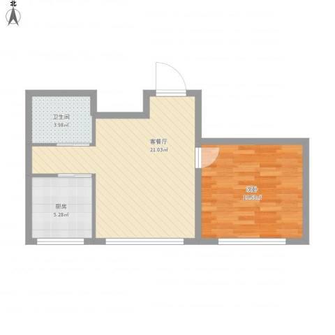 江城文苑531室1厅1卫1厨62.00㎡户型图